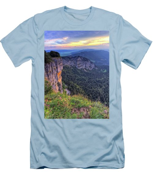 Creux-du-van Or Creux Du Van Rocky Cirque, Neuchatel Canton, Switzerland Men's T-Shirt (Athletic Fit)