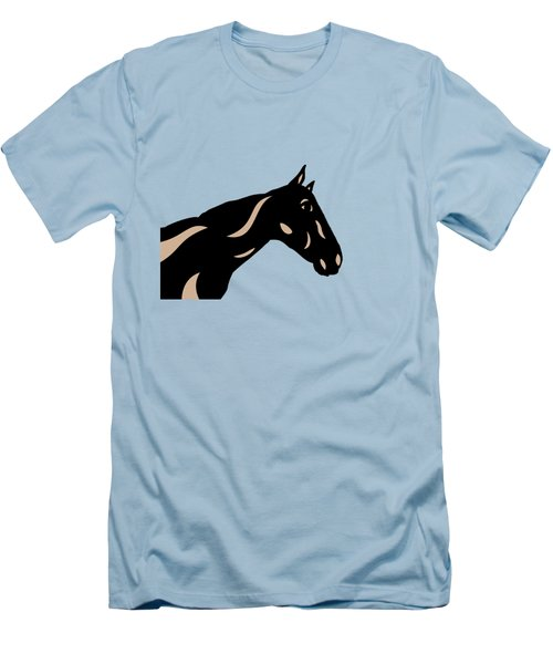 Crimson - Pop Art Horse - Black, Hazelnut, Island Paradise Blue Men's T-Shirt (Athletic Fit)