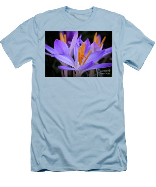 Men's T-Shirt (Slim Fit) featuring the photograph Crocus Explosion by Douglas Stucky