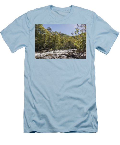 Crooked Tree Curve Men's T-Shirt (Slim Fit) by Ricky Dean