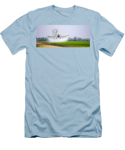 Precision Flying - Crop Dusting 1 Of 2 Men's T-Shirt (Athletic Fit)