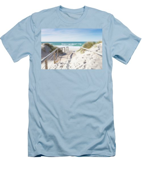 Crossing The Dune Men's T-Shirt (Slim Fit) by Edgar Laureano