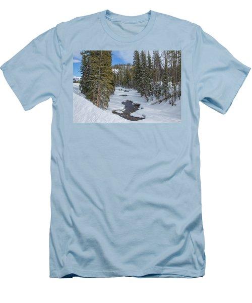 Crossing The Elk Men's T-Shirt (Slim Fit) by Sean Allen