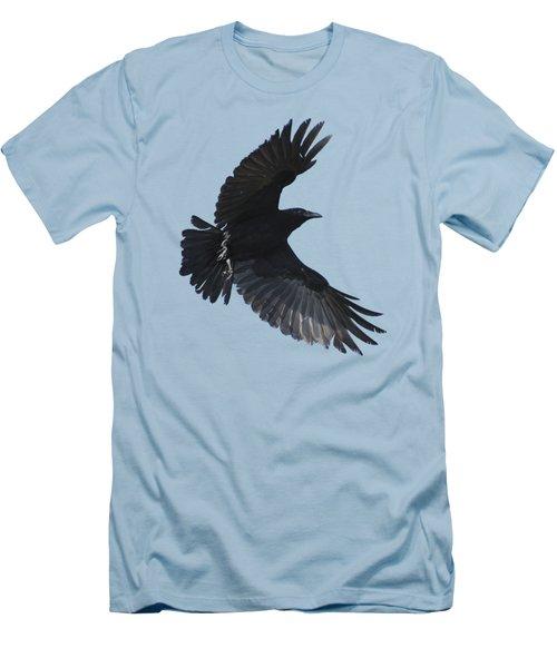 Crow In Flight Men's T-Shirt (Slim Fit) by Bradford Martin