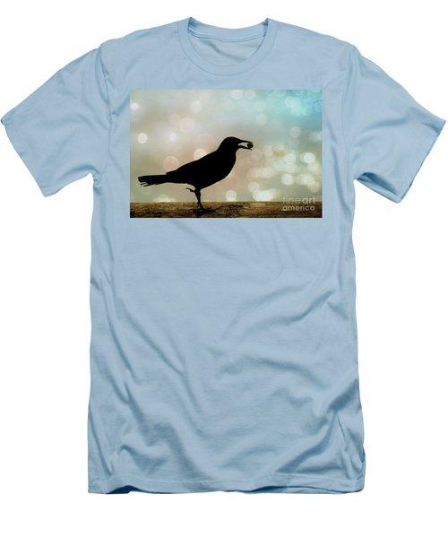 Men's T-Shirt (Slim Fit) featuring the photograph Crow With Pistachio by Benanne Stiens
