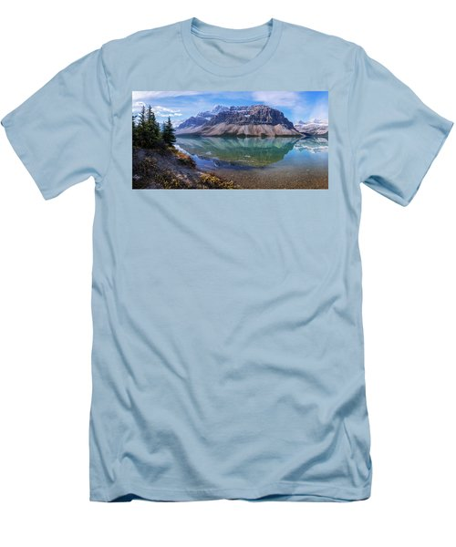 Men's T-Shirt (Slim Fit) featuring the photograph Crowfoot Reflection by Chad Dutson