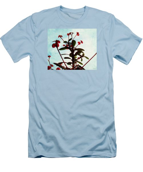 Men's T-Shirt (Slim Fit) featuring the photograph Crown Of Thorns by Shawna Rowe