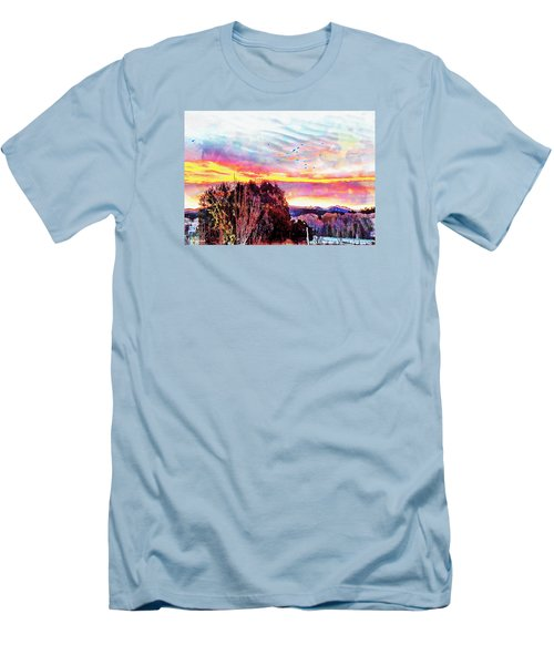 Crows Over Pre Dawn El Valle Men's T-Shirt (Athletic Fit)