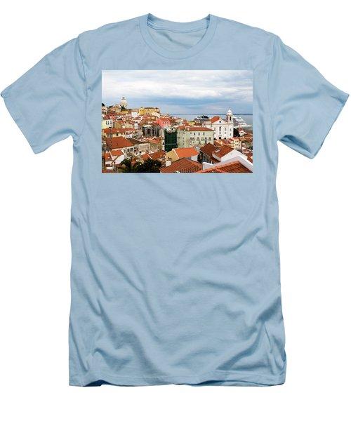 Cruise Ship Peeks Men's T-Shirt (Slim Fit) by Lorraine Devon Wilke