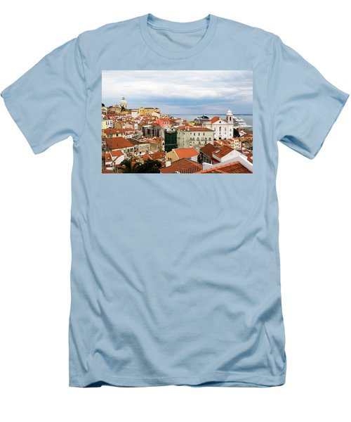 Men's T-Shirt (Slim Fit) featuring the photograph Cruise Ship Peeks by Lorraine Devon Wilke