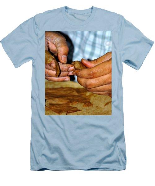Cuban Cigar Roller Men's T-Shirt (Athletic Fit)