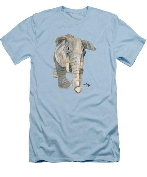 Cuddly Elephant Men's T-Shirt (Slim Fit) by Angeles M Pomata