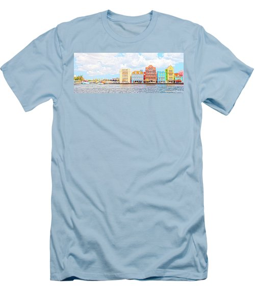 Curacao Awash Men's T-Shirt (Slim Fit) by Allen Carroll