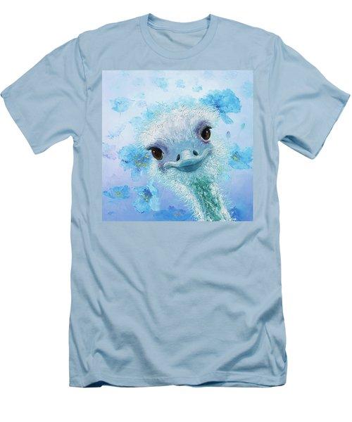 Curious Ostrich Men's T-Shirt (Slim Fit) by Jan Matson