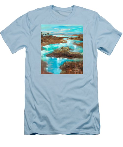 A Few Palms Men's T-Shirt (Slim Fit) by Linda Olsen
