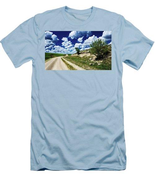 Curving Gravel Road Men's T-Shirt (Athletic Fit)