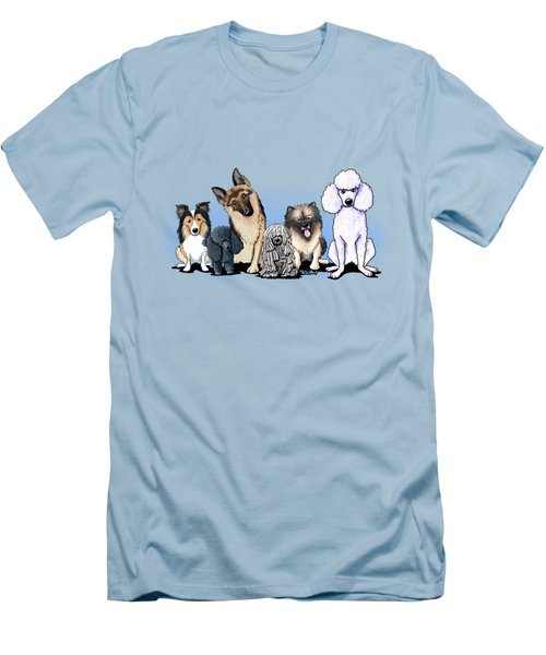 Custom Breed4ginnie Print Men's T-Shirt (Athletic Fit)