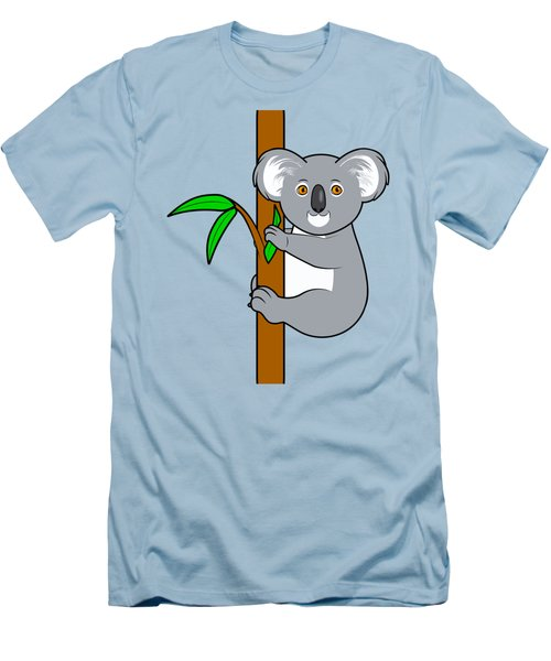 Koala With Eucalyptus Snack Men's T-Shirt (Slim Fit) by A