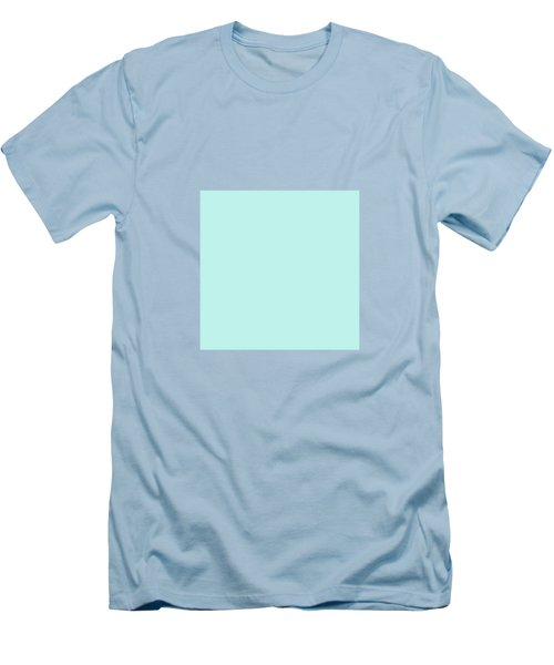 Cyan Ultra Soft Pastels Colour Palette Men's T-Shirt (Athletic Fit)