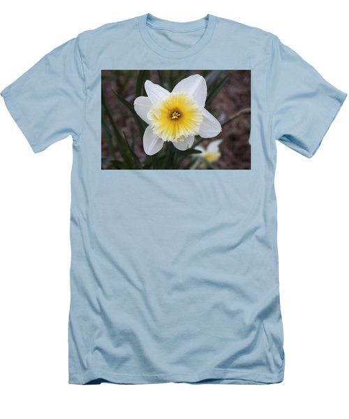 Men's T-Shirt (Slim Fit) featuring the photograph Daffodil At Black Creek by Jeff Severson