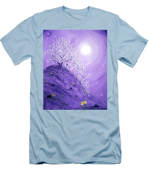 Daffodil Dawn Meditation Men's T-Shirt (Slim Fit) by Laura Iverson