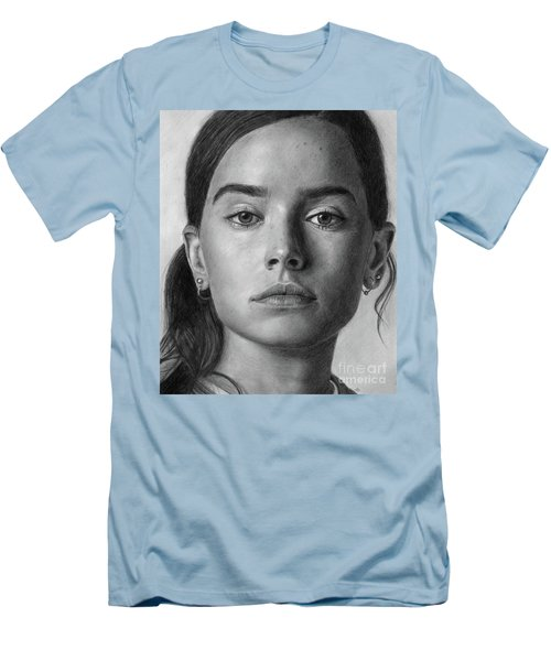 Daisy Ridley Portrait Men's T-Shirt (Athletic Fit)