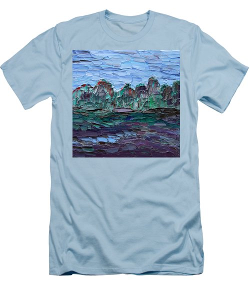 Men's T-Shirt (Athletic Fit) featuring the painting Dance In The Rain by Vadim Levin