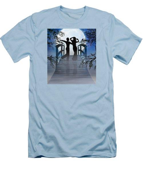 Men's T-Shirt (Slim Fit) featuring the digital art Dancing In The Moonlight by Nina Bradica