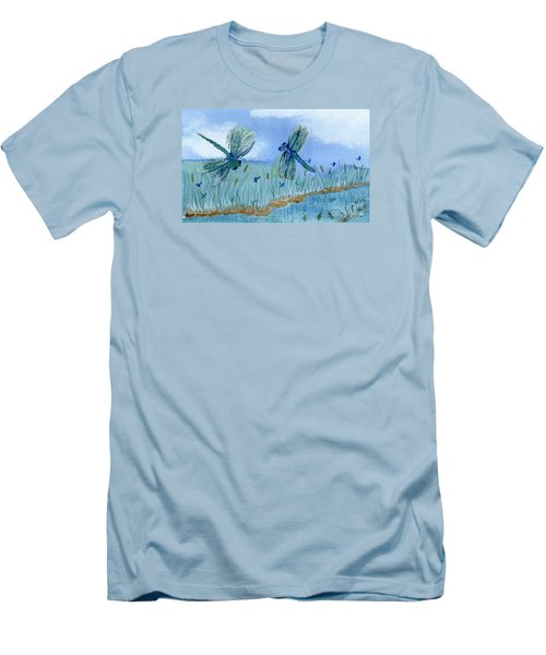 Dancing Skies Men's T-Shirt (Athletic Fit)
