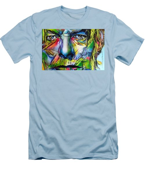 Men's T-Shirt (Slim Fit) featuring the painting David Bowie by Eric Dee