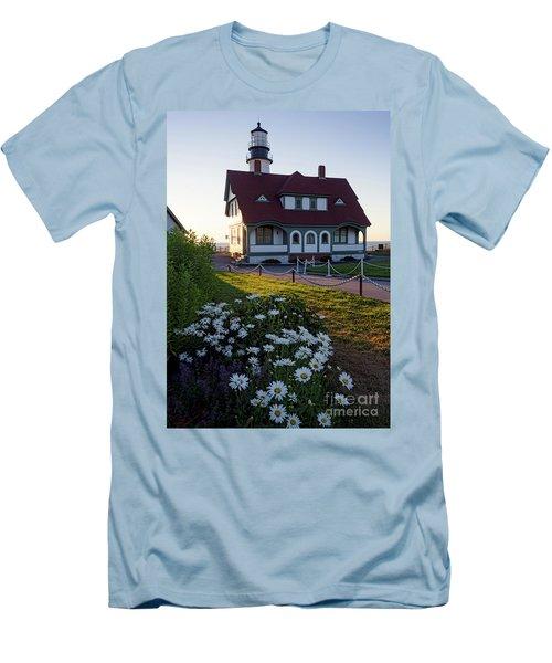 Dawn At Portland Head Light, Cape Elizabeth, Maine  -08614 Men's T-Shirt (Slim Fit) by John Bald