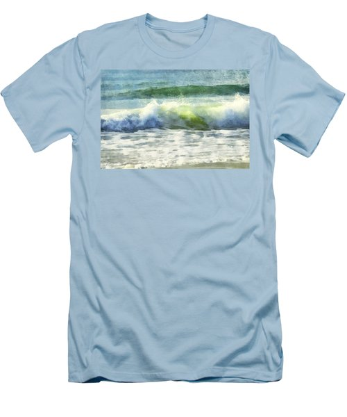 Men's T-Shirt (Slim Fit) featuring the digital art Dawn Wave by Francesa Miller