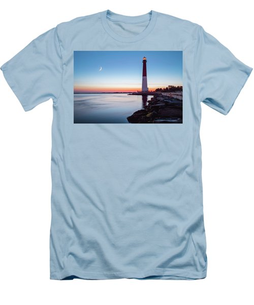 Men's T-Shirt (Slim Fit) featuring the photograph Daybreak At Barnegat by Eduard Moldoveanu