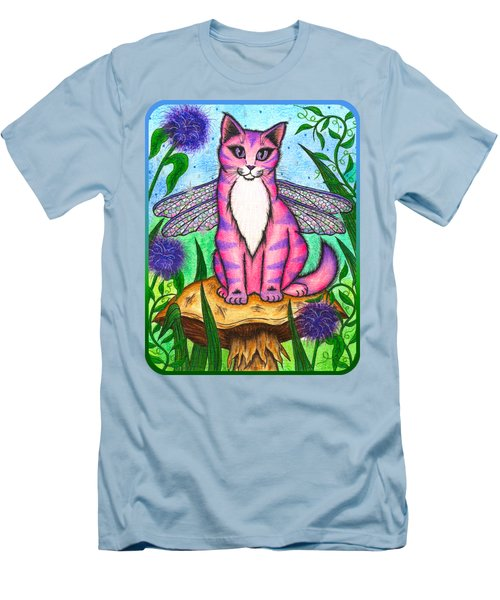 Dea Dragonfly Fairy Cat Men's T-Shirt (Slim Fit) by Carrie Hawks