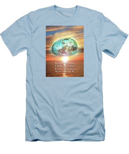 December Birthstone Turquoise Men's T-Shirt (Athletic Fit)