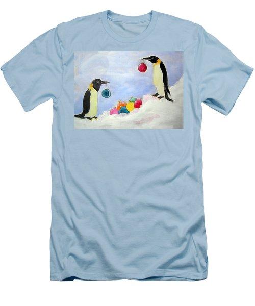 Decorating Penguins Men's T-Shirt (Athletic Fit)