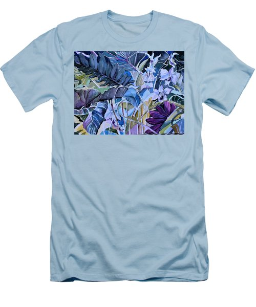Men's T-Shirt (Slim Fit) featuring the painting Deep Dreams by Mindy Newman