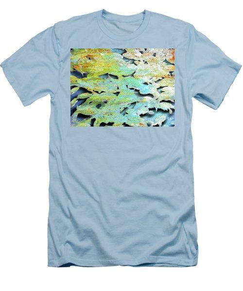 Men's T-Shirt (Slim Fit) featuring the mixed media Deep by Tony Rubino