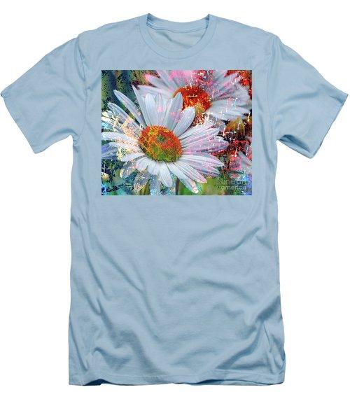 Delightful Daisies Men's T-Shirt (Slim Fit) by Annie Zeno