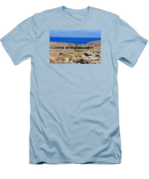 Delos Island View Of Agean Men's T-Shirt (Athletic Fit)