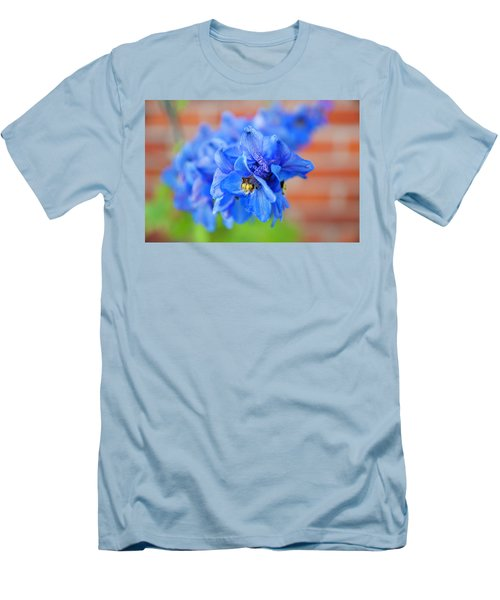 Delphinium Men's T-Shirt (Slim Fit) by Tamara Sushko