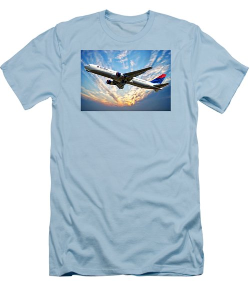 Delta Passenger Plane Men's T-Shirt (Slim Fit) by Anthony Dezenzio