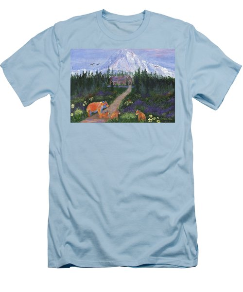Men's T-Shirt (Athletic Fit) featuring the painting Denali by Jamie Frier