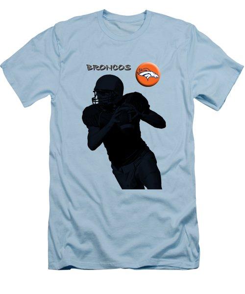 Men's T-Shirt (Slim Fit) featuring the digital art Denver Broncos Football by David Dehner