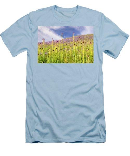 Desert Candles At Carrizo Plain Men's T-Shirt (Slim Fit) by Marc Crumpler