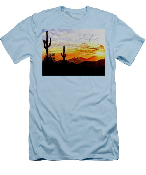 Desert Mustangs Men's T-Shirt (Athletic Fit)