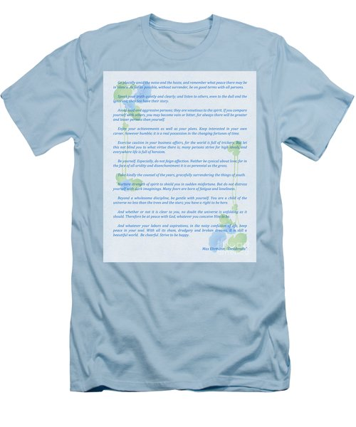 Desiderata In Blue Men's T-Shirt (Slim Fit) by Olga Hamilton