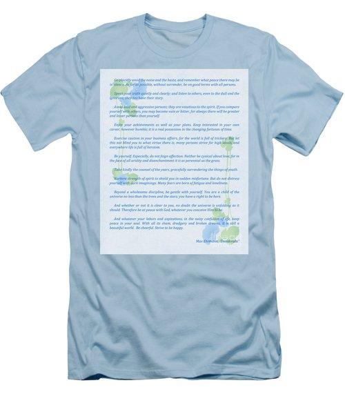 Desiderata In Blue Men's T-Shirt (Athletic Fit)