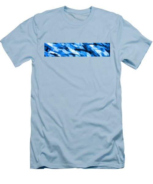 Designer Camo In Blue Men's T-Shirt (Slim Fit) by Bruce Stanfield