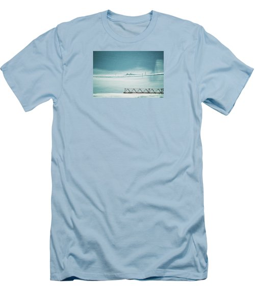 Men's T-Shirt (Slim Fit) featuring the photograph Designs And Lines - Winter In Switzerland by Susanne Van Hulst